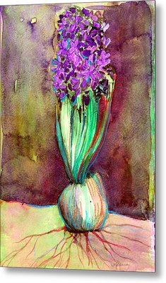 Spring Hyacinth Metal Print by Mindy Newman