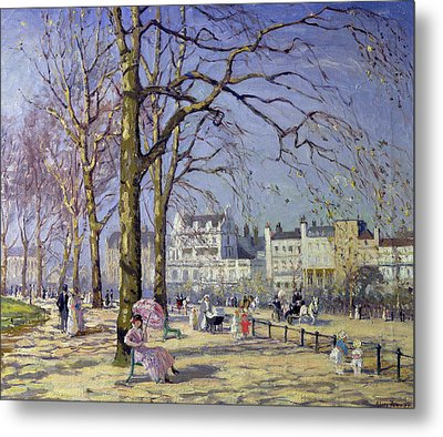 Spring In Hyde Park Metal Print by Alice Taite Fanner