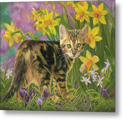 Spring Kitten Metal Print by Lucie Bilodeau