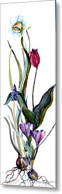 Spring Mix Metal Print by Mindy Newman