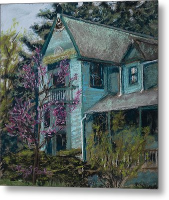 Springtime In Old Town Metal Print by Mary Benke
