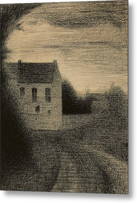 Square House Metal Print by Georges Pierre Seurat