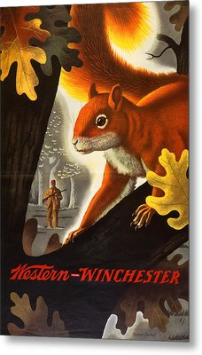 Squirrel Hunting Metal Print by Weimer Pursell