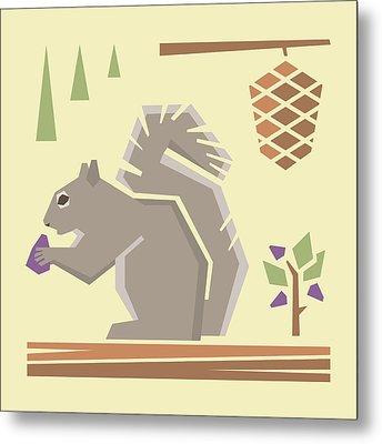 Squirrel1 Metal Print by Mitch Frey