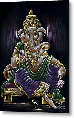 Sri Ganapati Metal Print by Tim Gainey