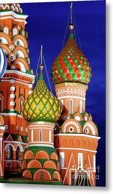 St Basils Cathedral In Moscow Russia Metal Print by Oleksiy Maksymenko