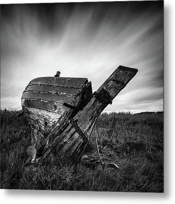 St Cyrus Wreck Metal Print by Dave Bowman