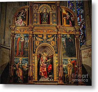 St. Jerome Chapel Altarpiece Metal Print by Sue Melvin