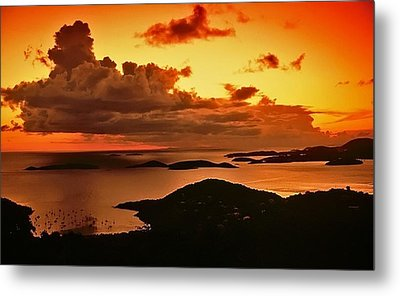 St. John Sunset Metal Print by Bill Jonscher
