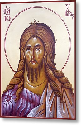 St John The Forerunner And Baptist Metal Print by Julia Bridget Hayes