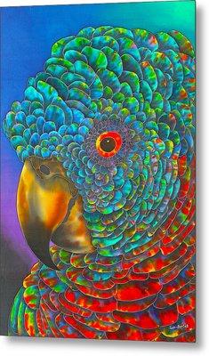 St. Lucian Parrot Metal Print by Daniel Jean-Baptiste