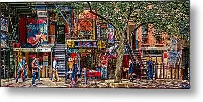 St Marks Place Metal Print by Chris Lord