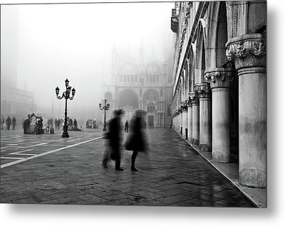 St Mark's Square Metal Print by Marion Galt