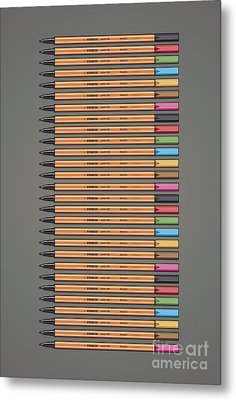 Stabilo Point 88 Fineliner Poster Metal Print by Monkey Crisis On Mars