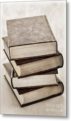 Stack Of Books Metal Print by Elena Elisseeva
