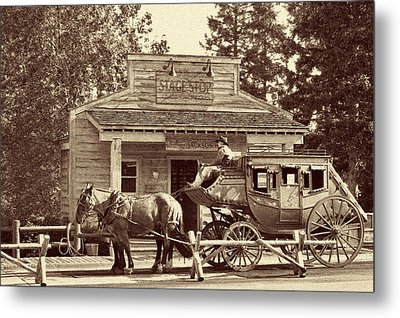 Stage Coach Stop - Jackson Hole Wy Metal Print by Christine Till
