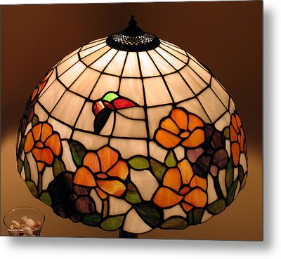 Stained-glass Lampshade Metal Print by Suhas Tavkar
