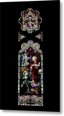 Stained Glass Window - Church Metal Print by Kim Hojnacki