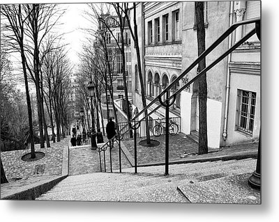 Staircase At Montmartre Metal Print by Diana Haronis
