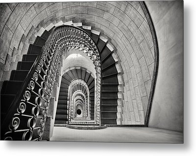 Staircase Perspective Metal Print by George Oze