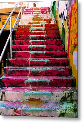 Stairs Metal Print by Angela Wright