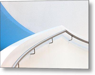 Stairs With Blue Metal Print by Jeroen Van De Wiel