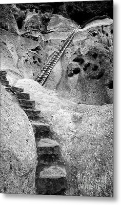 Stairways To The Kiva Metal Print by Sandra Bronstein