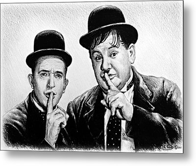 Stan And Ollie Metal Print by Andrew Read