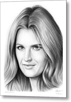 Stana Katic Metal Print by Greg Joens