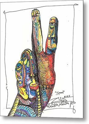 Stand Metal Print by Robert Wolverton Jr