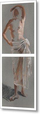 Standing Figure-diptych Metal Print by Gideon Cohn