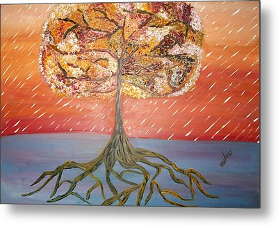Standing In The Storm Metal Print by Alexandra Torres