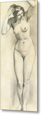 Standing Nude Metal Print by William Edward Frost