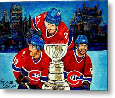 Stanley Cup Win In Sight Playoffs   2010 Metal Print by Carole Spandau