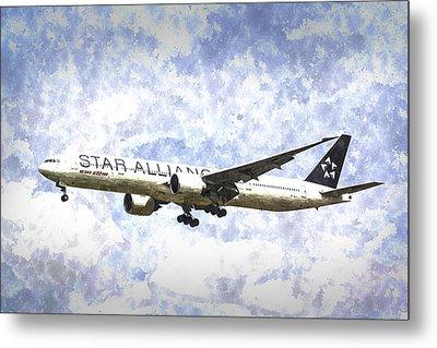 Star Alliance Boeing 777 Art Metal Print by David Pyatt