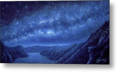 Star Path Metal Print by Lucy West