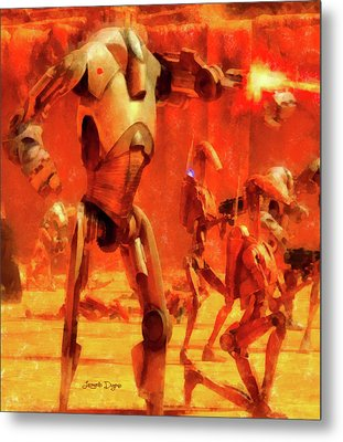 Star Wars B2 Battle Droid - Aquarell Style Metal Print by Leonardo Digenio