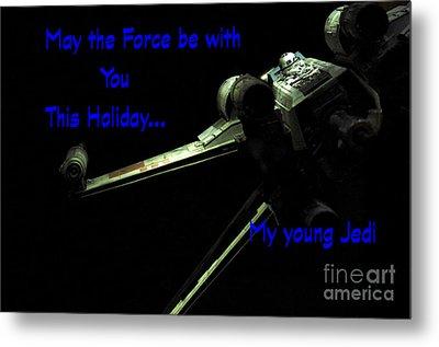 Star Wars Birthday Card 5 Metal Print by Micah May