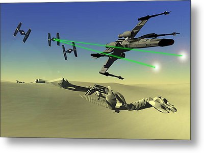 Star Wars Metal Print by Michael Greenaway