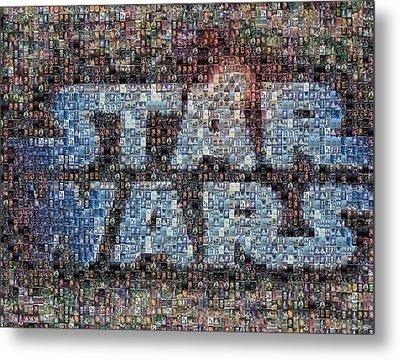 Star Wars Posters Mosaic Metal Print by Paul Van Scott