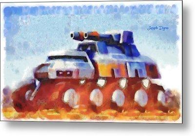 Star Wars Rebel Army Armor Vehicle  - Watercolor Wet Style -  - Da Metal Print by Leonardo Digenio