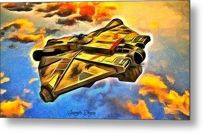 Star Wars Rebels Ghost - Da Metal Print by Leonardo Digenio