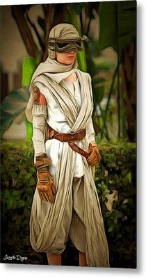 Star Wars Rey 2 - Da Metal Print by Leonardo Digenio