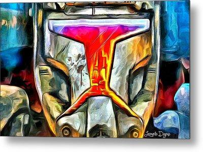 Star Wars Stormtrooper Fighter Metal Print by Leonardo Digenio