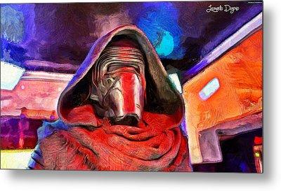 Star Wars The Kylo Ren Face - Da Metal Print by Leonardo Digenio