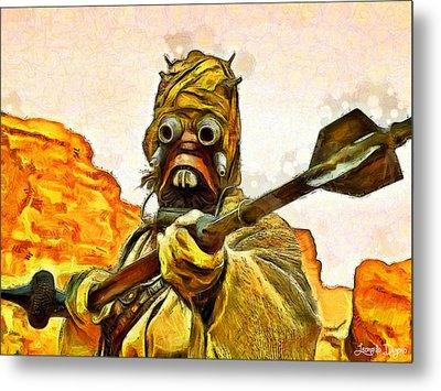 Star Wars Warrior - Da Metal Print by Leonardo Digenio
