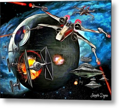 Star Wars Worlds At War - Da Metal Print by Leonardo Digenio