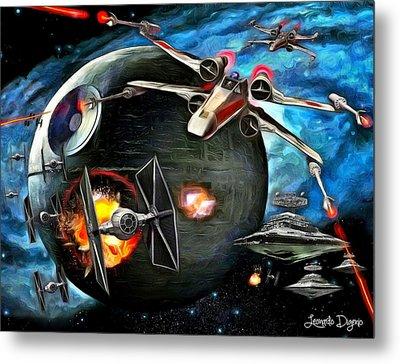 Star Wars Worlds At War Metal Print by Leonardo Digenio