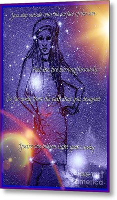 Starlight Of Space And Time Stellar1 Metal Print by Joan-Violet Stretch