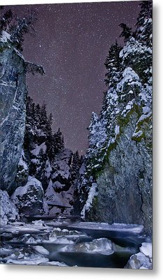 Starry Creek Metal Print by Brandon Broderick